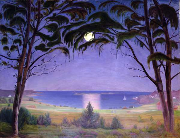 Moonlight, Nevlunghavn, 1922 (oil on canvas)