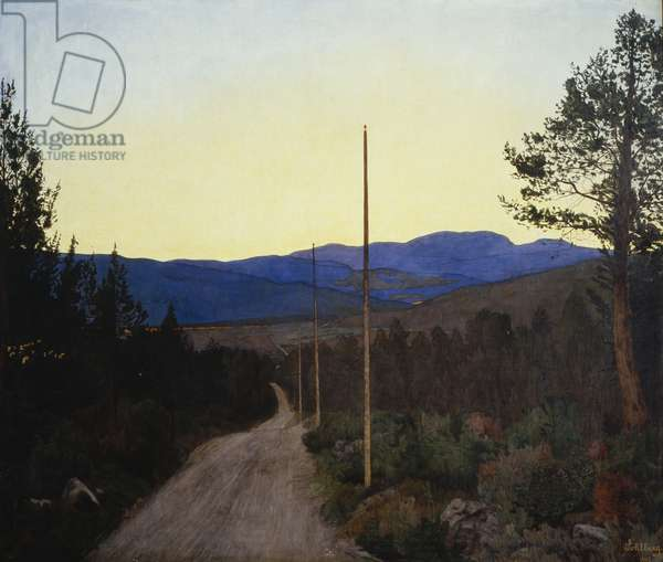 Country Head, Landevei, 1905 (oil on canvas)