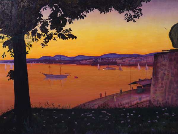 From Akershus Fort (oil on canvas)