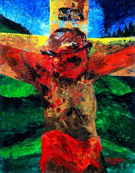 Crucifixion- it is finished, 2009 (acrylic on canvas)