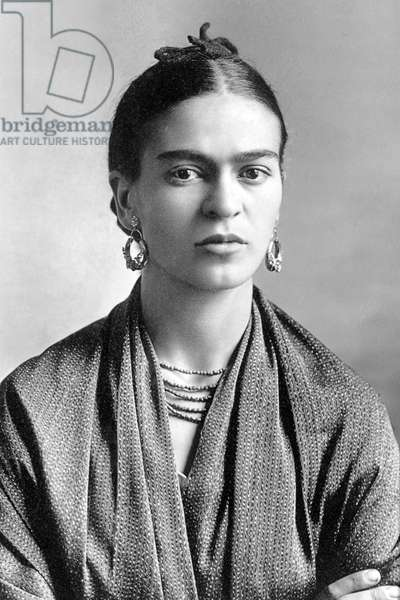 Mexico: Frida Kahlo de Rivera, painter and artist (1907-1954), photographed by her father, Guillermo Kahlo, 1932