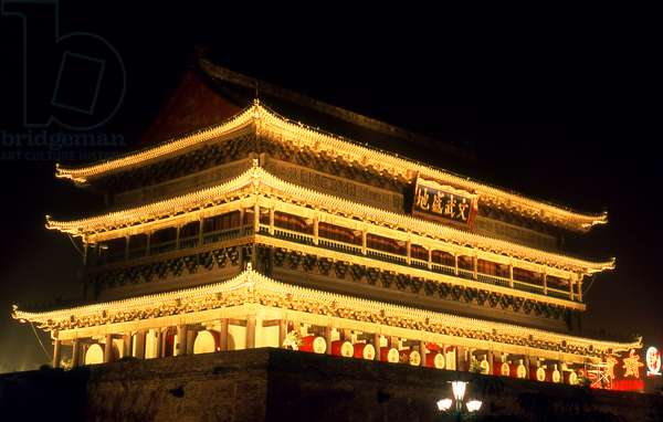 China: Drum Tower (Gu Lou), Xi'an, Shaanxi Province