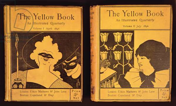 The Yellow Book, published by Lane, Volumes 1 and 2, 1894, covers