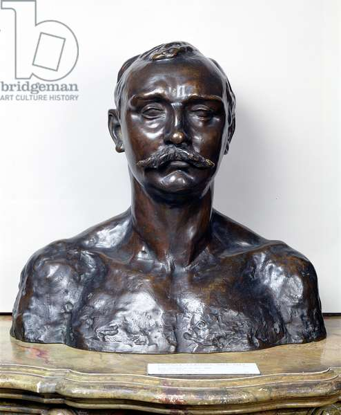 Paul Claudel (1868-1955) aged thirty-seven, 1905 (bronze)