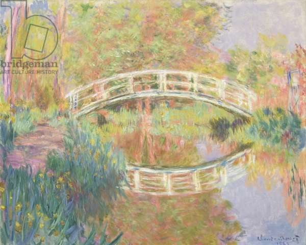 Japanese Footbridge, Giverny, 1895 (oil on canvas)