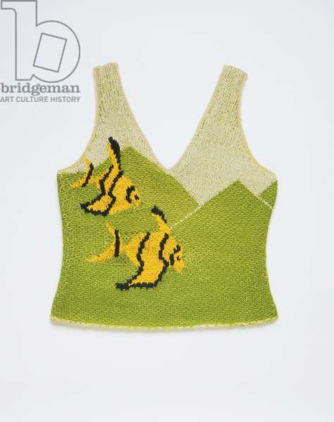Bathing-Suit Top, Summer 1928 (hand-knitted wool)