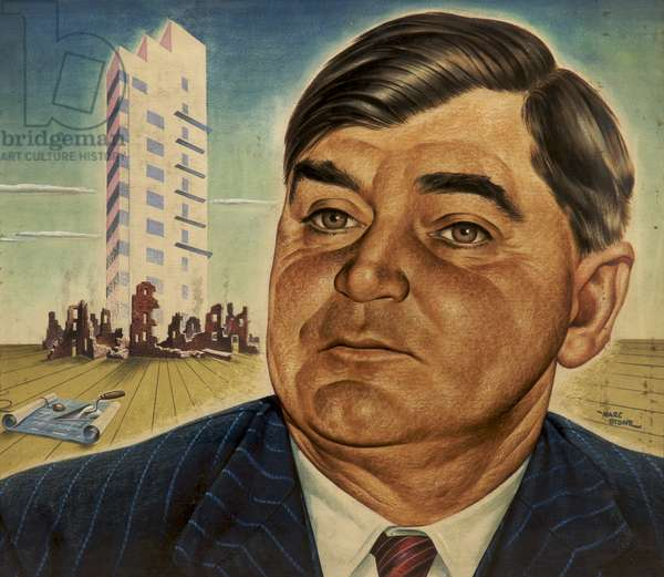 Aneurin Bevan, 1945 (acrylic on card)
