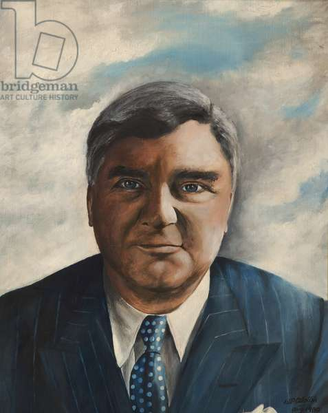 Aneurin Bevan, 1980 (acrylic on canvas)