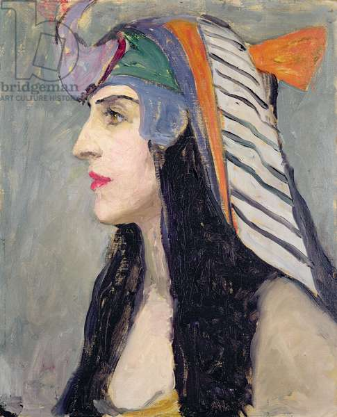 Portrait of Lubov Tchernicheva as Cleopatra, 1919-1920 (oil on board)