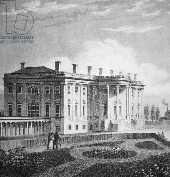 View of the White House, c.1800 (engraving)