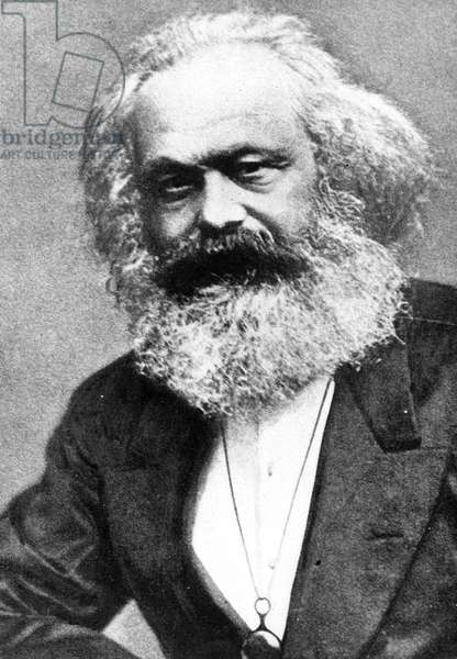 Karl Marx (b/w photo)
