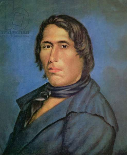 Tecumseh (1768-1813) (oil on canvas)