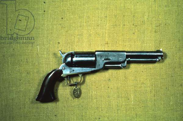 Colt 'Walker' model .44 calibre revolver of 1847 (wood & metal)