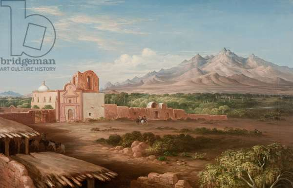 Tumacacori Mission, 1855 (oil on canvas)
