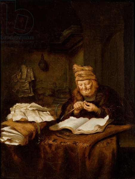 The Old Philosopher, 1645-50 (oil on oak panel)