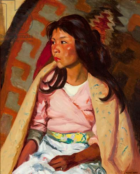 Indian Girl of Santa Clara, 1917 (oil on canvas)