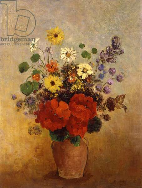 Vase of Flowers, c.1905-10 (oil on canvas)