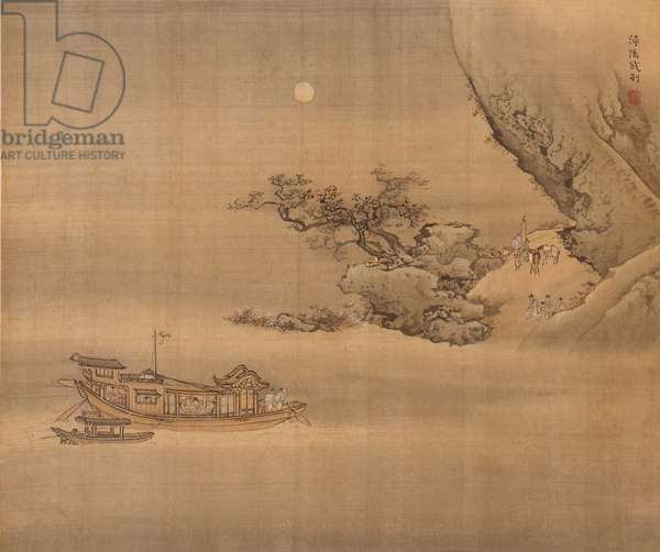 Parting at Xunyang, 1740 (ink and colour on silk)