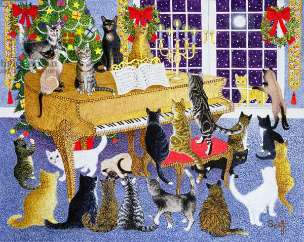 Christmas Chorus (acrylic on canvas)