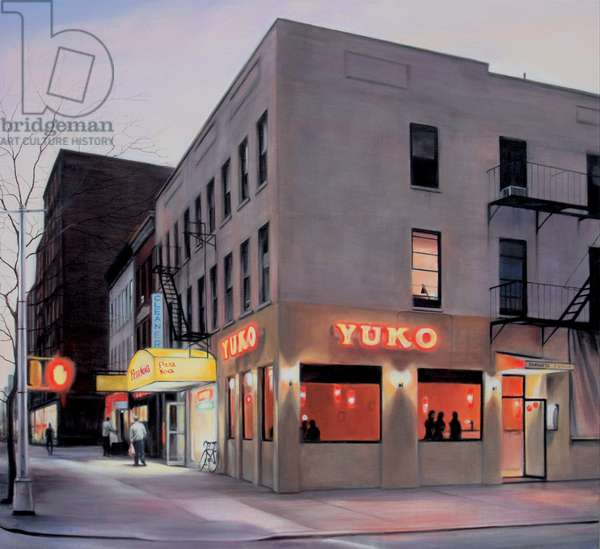 York Avenue, Evening, 2007, (oil on calico)