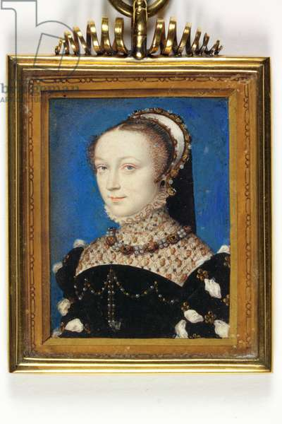 Lady Elizabeth Fitzgerald, Countess of Lincoln (w/c & bodycolour on vellum)