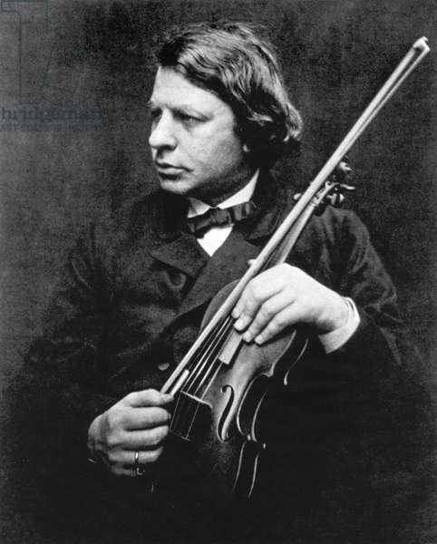 Joseph Joachim (28 June 1831 - 15 August 1907), Hungarian violinist conductor and composer photo Julia Margaret Cameron 1868