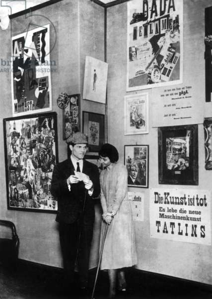 Raoul Hausmann and Hannah Hoch, Berlin, Germany, 1920 (b/w photo)