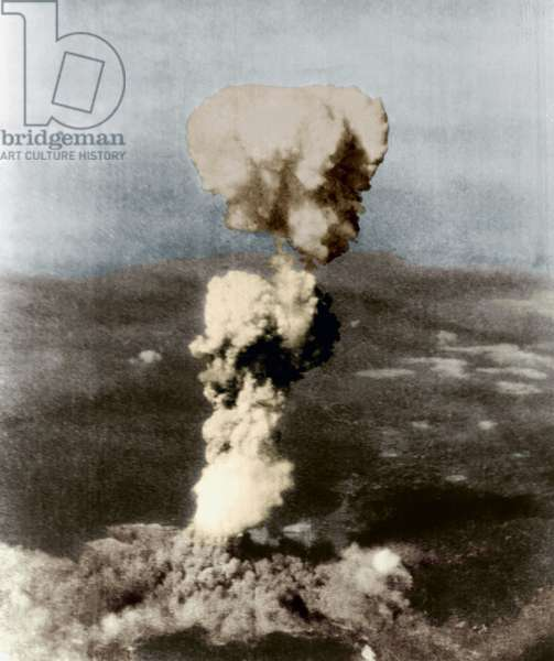 Atomic bomb on Hiroshima in Japan on august 6, 1945
