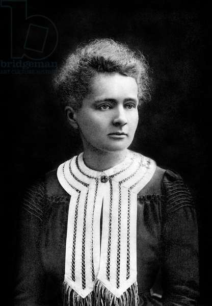 french physicist Marie Curie (1867-1934) physics Nobel prize in 1903, chemistry Nobel prize in1911, photo by Eugene Pirou, 1903