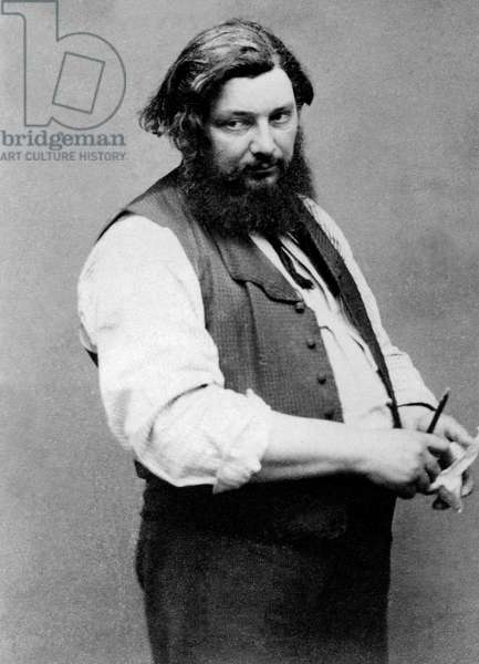 Gustave Courbet (1819-1877) french painter, c. 1867, photo Etienne Carjat