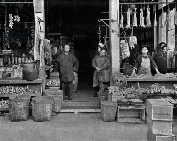 Chinatown in San Francisco, photo by John Lawson Stoddard (1850-1931)