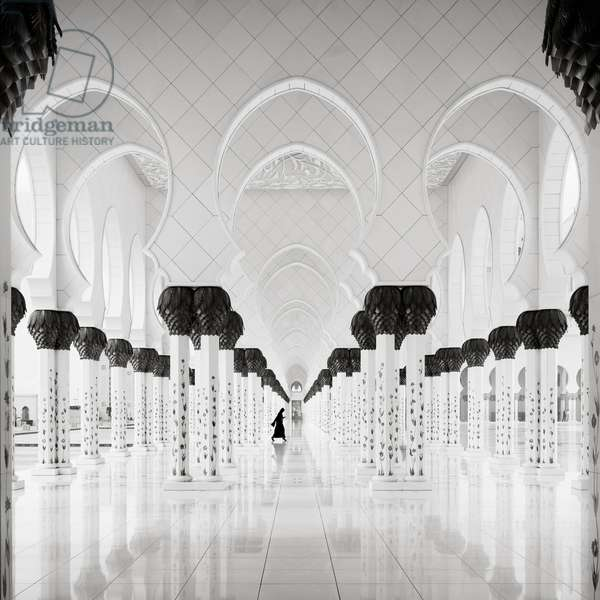 Sheikh Zayed Mosque - Study 10, Abu Dhabi, United Arab Emirates, 2015 (b/w photo)