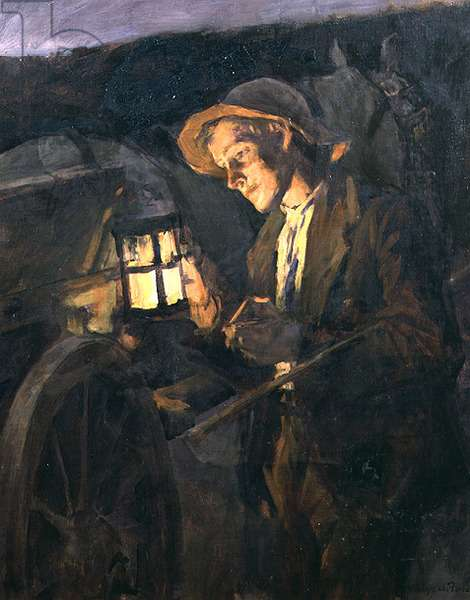 Study for the carter in 'Lighting Up Time', 1909