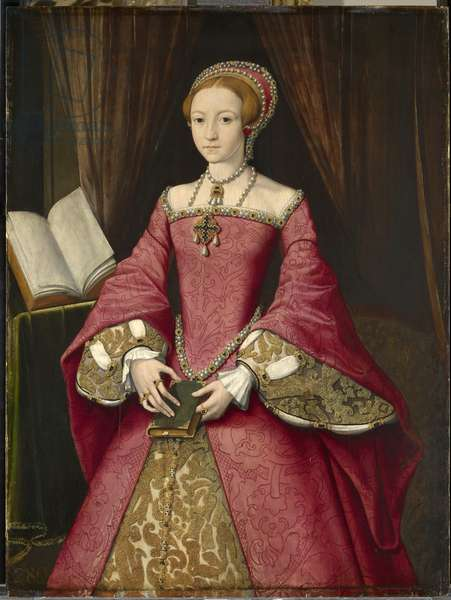 Elizabeth I when Princess, at the age of about 13, c.1546 (oil on panel)