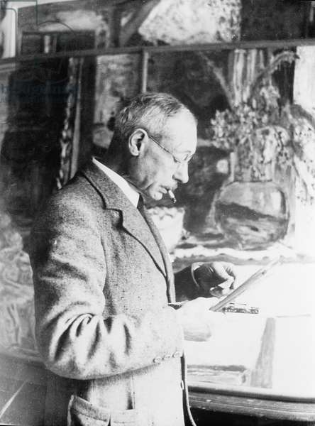 Portrait of Pierre Bonnard (1867-1947) Painting (b/w photo)