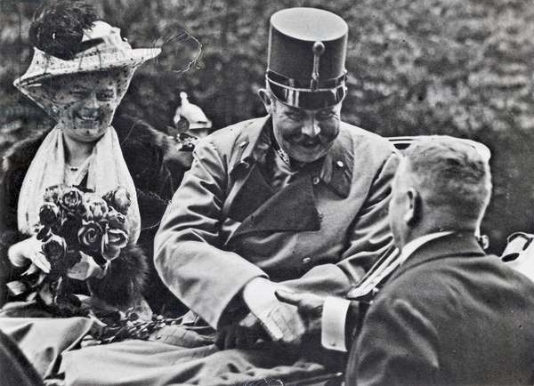 Archduke Franz Ferdinand of Habsburg and his wife Sophie, Duchess of Hohenberg, c.1914 (b/w photo)