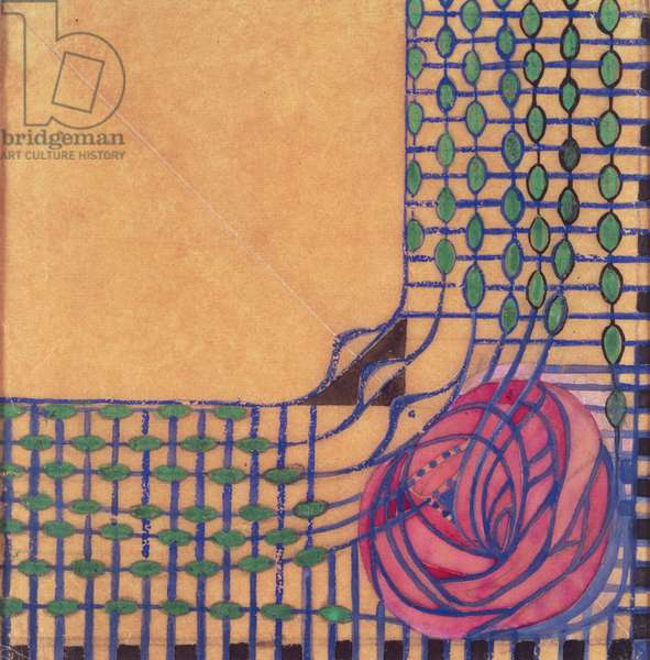 Design for a printed textile by Charles Rennie Mackintosh