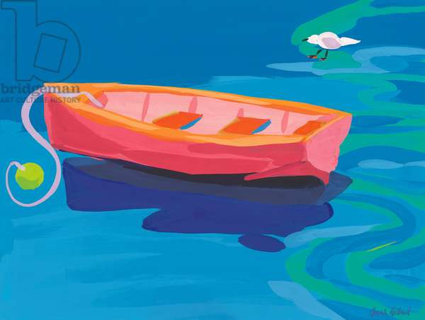 Gull and Boat, 2009 (gouache on paper)