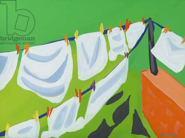 Washing Line, 2014, (gouache on paper)