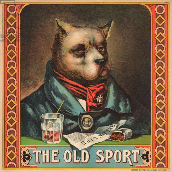 The Old Sport (colour litho)