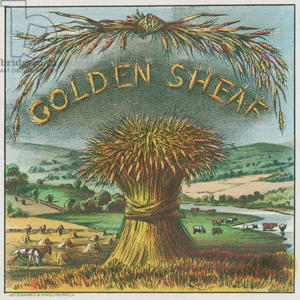 Golden Sheaf cigar label, printed by George Harris & Sons litho., Philidelphia, c.1895 (colour litho)
