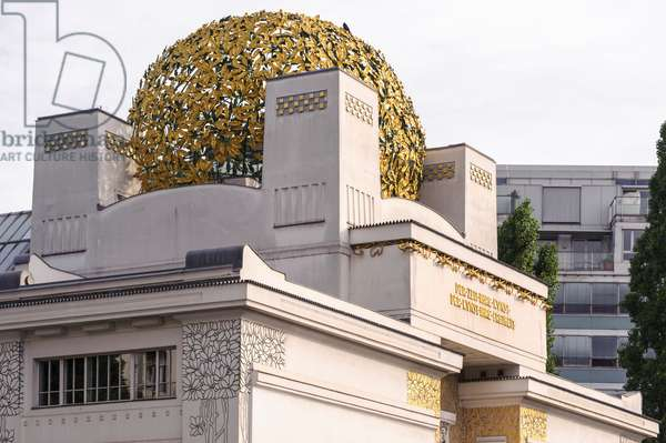 Secession building with gold dome