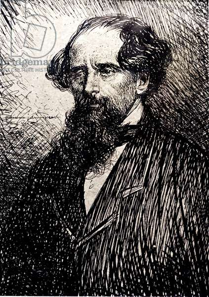 Portrait of Charles Dickens, by E.J. Sullivan