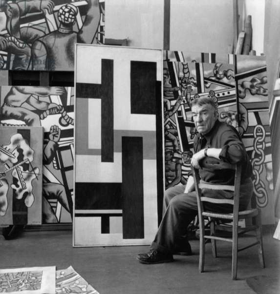 Fernand Leger, 1952 (b/w photo)