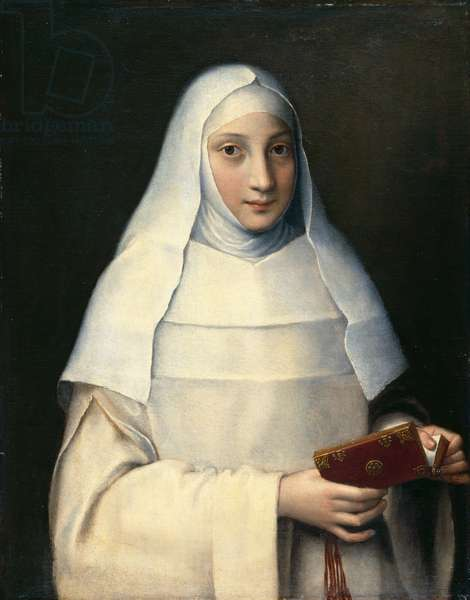 Portrait of the artist's sister in the garb of a nun (oil on canvas)