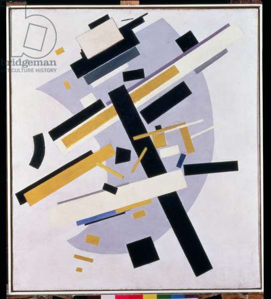 Supremus No. 58 Dynamic Composition in Yellow and Black, 1916 (oil on canvas)