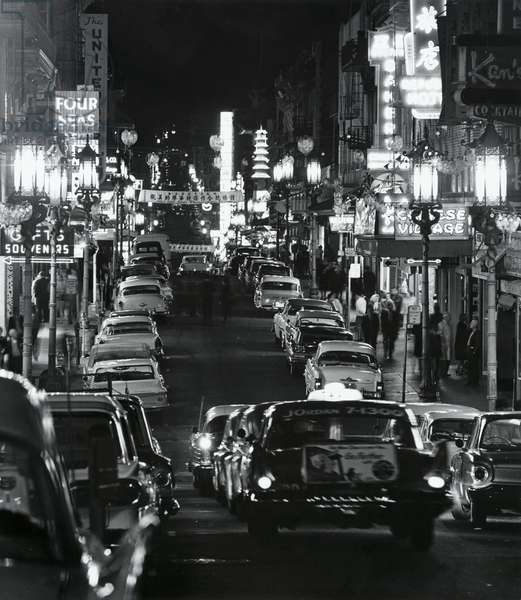 USA, California, San Francisco, Chinatown, Grant Avenue by night
