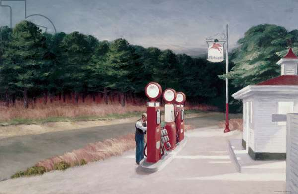 Gas,1940 (oil on canvas)