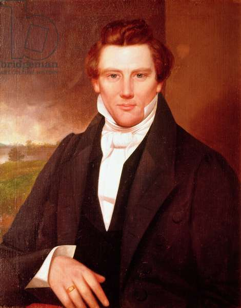 Portrait of Joseph Smith (oil on canvas)