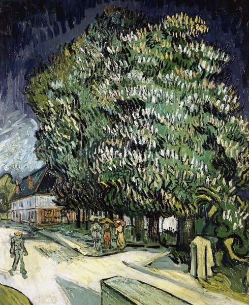 Chestnut trees in Blossom, Auvers-sur-Oise, 1890 (oil on canvas)
